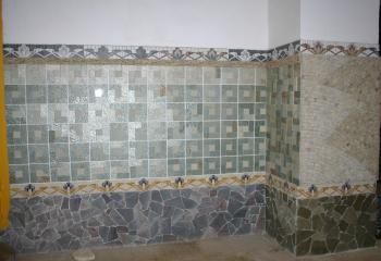 Пример укладки плитки из натурального камня